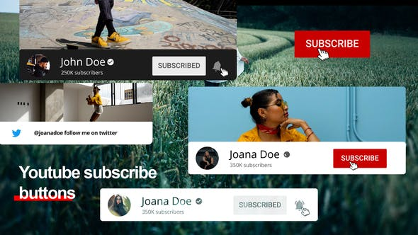 Videohive Youtube Subscribe Buttons 31602662