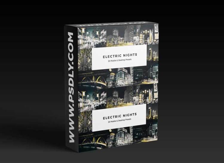 20 Electric Nights Lightroom Presets & LUTs
