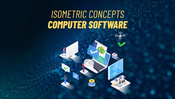 Videohive Computer Software Isometric Concept 31693664