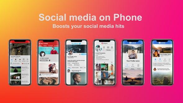 Videohive Social Media on Phone 22030858