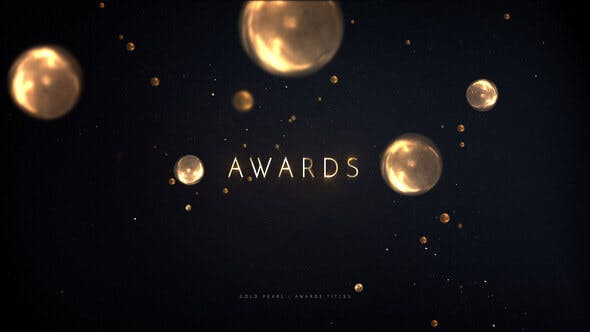 Videohive Awards Titles Gold Pearls 24391604