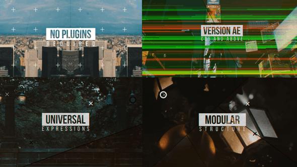 VideoHive Modern Glitch Opener \\ Line Slideshow 12050282