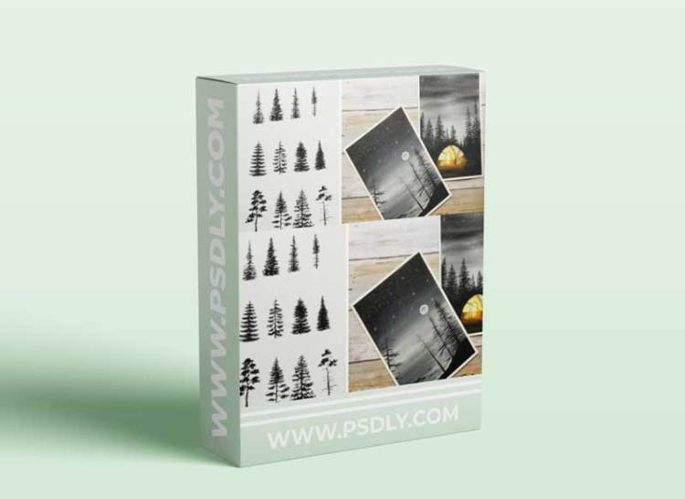 Learn How to Draw Pine Trees and How to incorporate them in your Watercolor Paintings