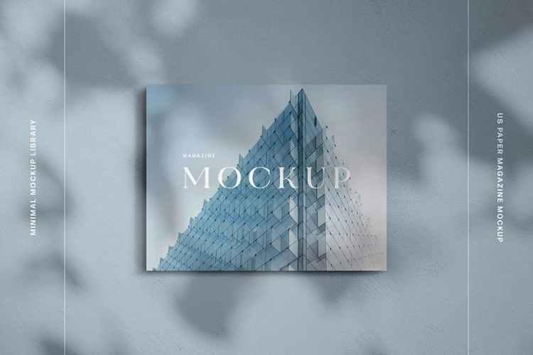 Landscape US Letter Magazine Mockup