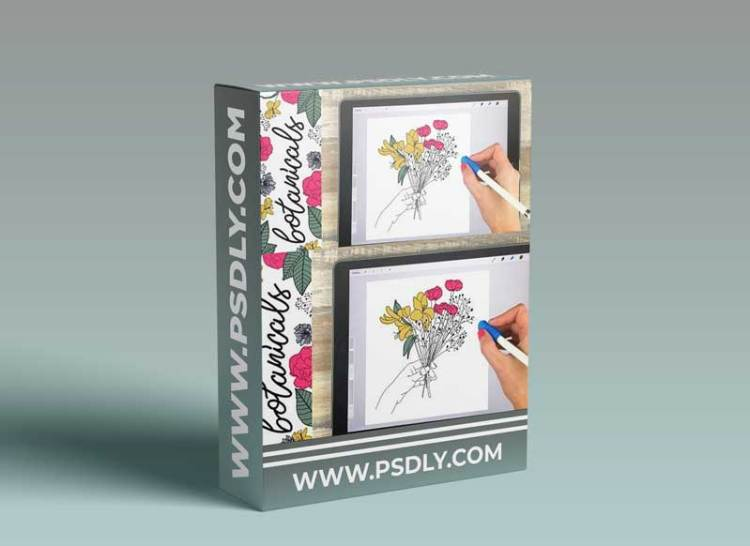 Botanical Illustrations on Your iPad in Procreate + 15 Free Procreate Brushes