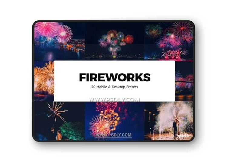 CreativeMarket - 20 Fireworks Lightroom Presets & LUTs 6283937