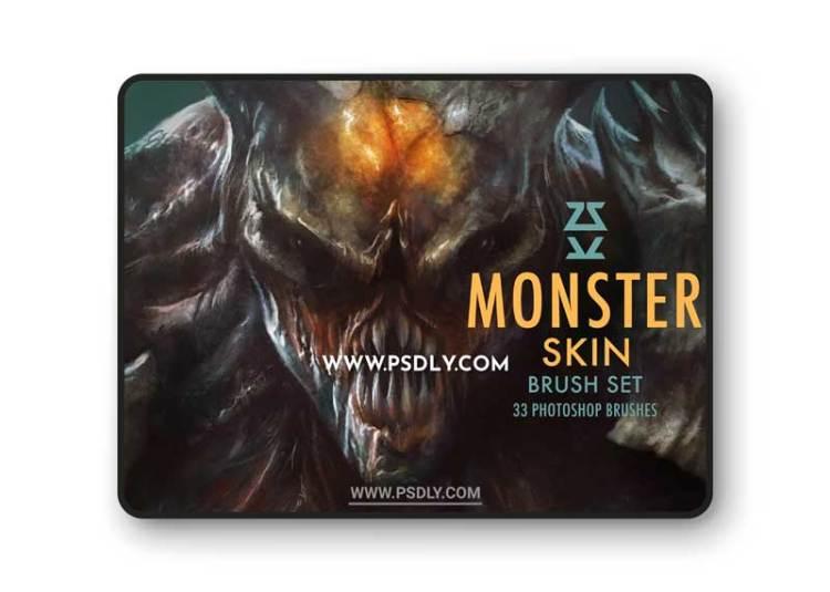 CreativeMarket - Monster Skin Brush Set 6133164