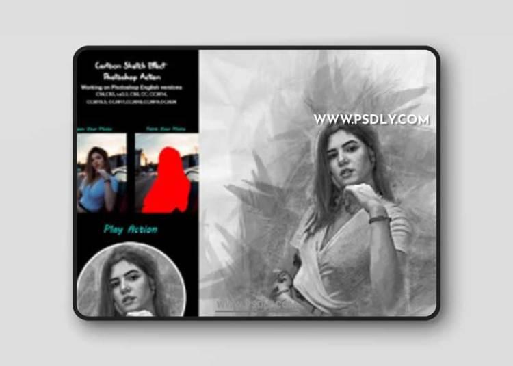 CreativeMarket - Speed Sketch Photoshop Action 5385541