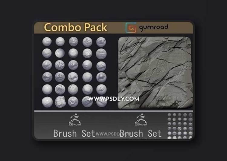 Custom Zbrush Brush Combo Pack
