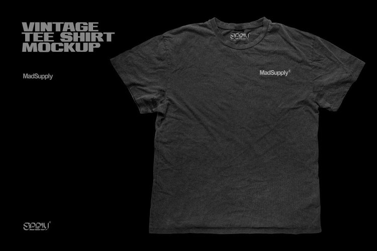 CreativeMarket - Vintage Distressed T-Shirt Mockup 5910323