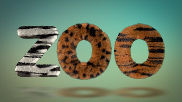 Videohive Hairy Zoo Text 16720729