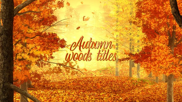 Videohive Autumn Woods Titles 33925235