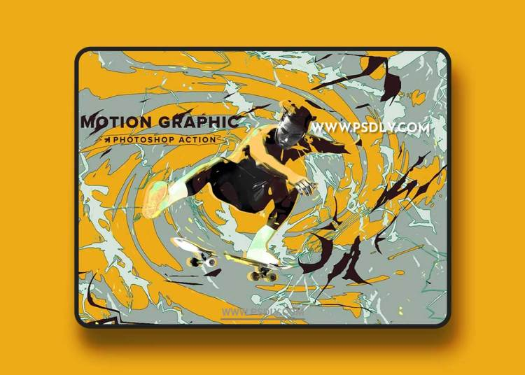 CreativeMarket - Motion Graphic Photoshop Action 6357439