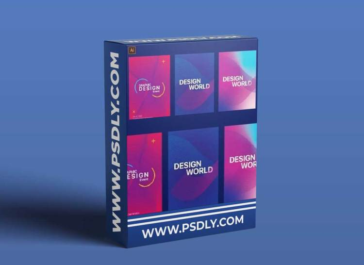 Design Two Modern Posters With Gradient & Shapes in Adobe Illustrator
