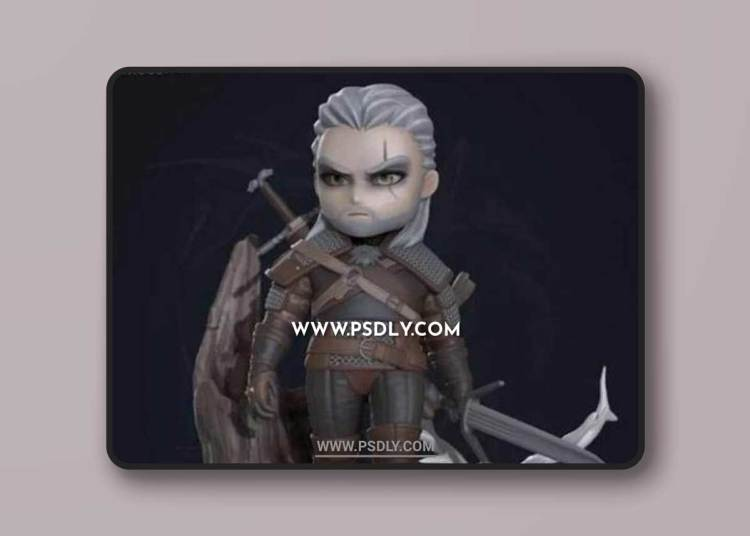 Geralt chibi from The Witcher 3D Models