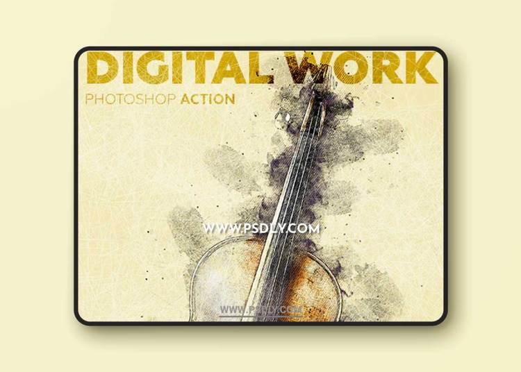 GraphicRiver - Digital Work Photoshop Action 23053883