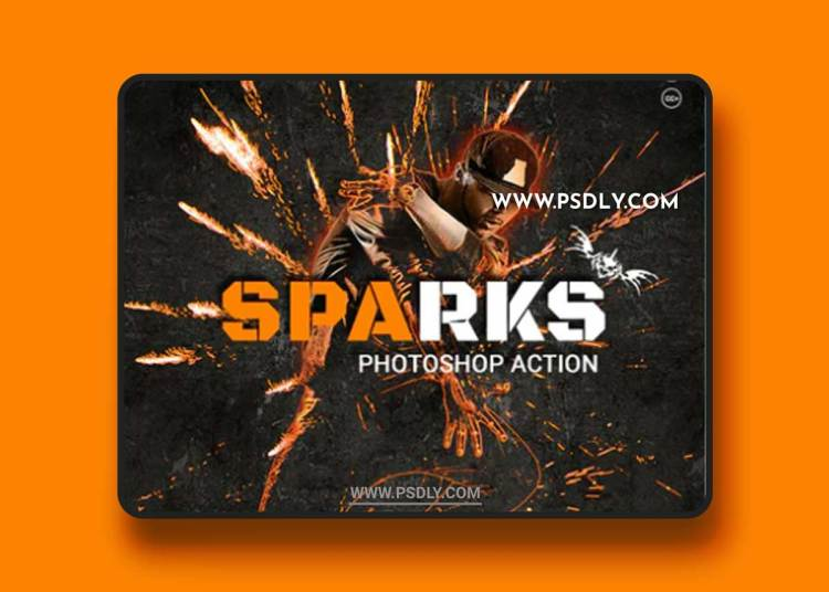 GraphicRiver - Sparks Photoshop Action 20627467