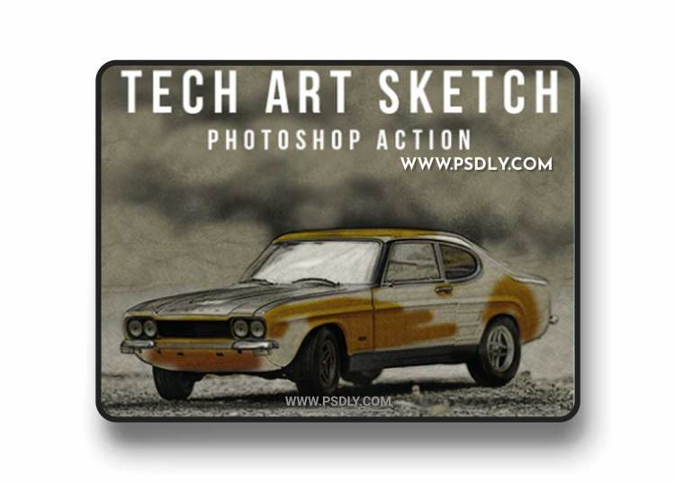 GraphicRiver - Tech Art Sketch Photoshop Action 22163515