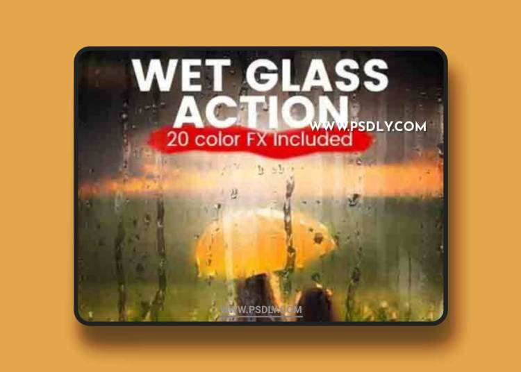 GraphicRiver - Wet Glass Photoshop Action 20614835