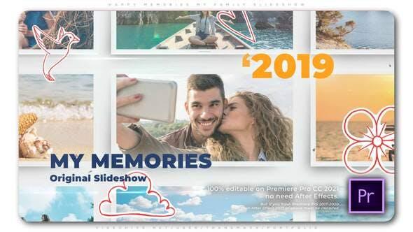 Videohive - Happy Memories   My Family Slideshow - 33715192