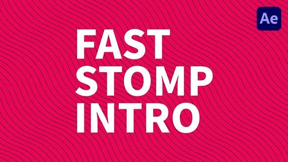 Videohive Fast Stomp Intro 33849232