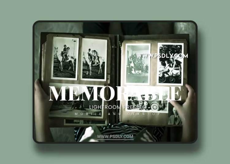 Memorable Lightroom Presets Dekstop and Mobile