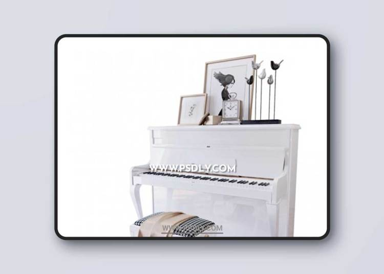 Piano Weinbach White Stool and Decor