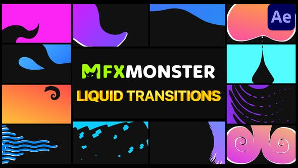 Videohive Liquid Transitions   After Effects 33911789