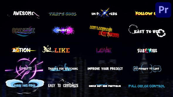 Videohive - Stylish Titles | Premiere Pro MOGRT - 33669777