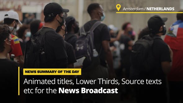 Videohive News Titles - Animated Titles and Lower Thirds for Broadcast News 33785533