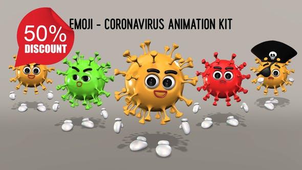 Videohive Emoji - Coronavirus Animation Kit 26635531