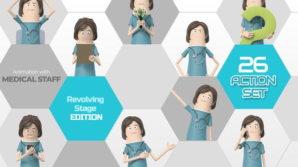 Videohive 26 Action Set Medical Staff 33966255