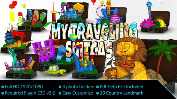 Videohive My Travelling Suitcase 19397527