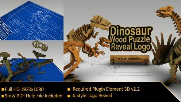 Videohive Dinosaurus Wood Puzzle Reveal Logo 20945150