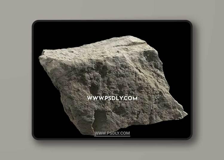 Rock Boulder Large 002