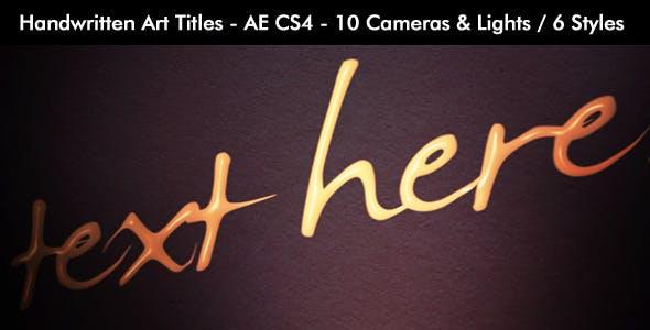Videohive Handwritten Art Titles 7408964