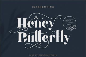 CM - Honey Butterfly - Beauty Typeface 6259713