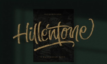 Hillentone - Brush Font