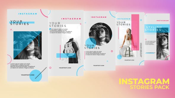 Videohive Shape Stories Pack 33705358