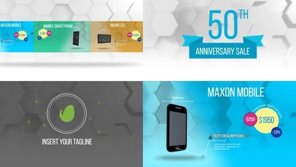 Videohive Product Promo Colorful Hexagon Style 20625089