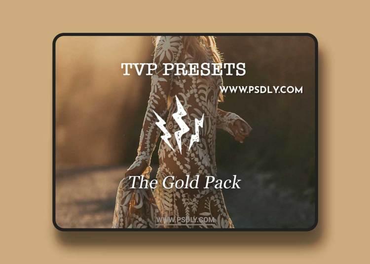 TVP Custom Presets for Lightroom – The Gold Pack