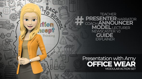 Videohive Presentation With Amy: Office Wear 14544251