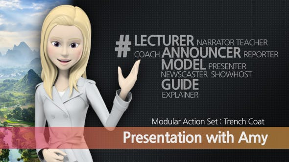 Videohive Presentation With Amy: Trench Coat 17249542
