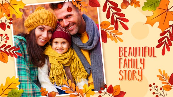 Videohive Autumn Lovely Moments Slideshow 34091230