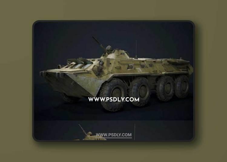 BTR – 80 3D Models