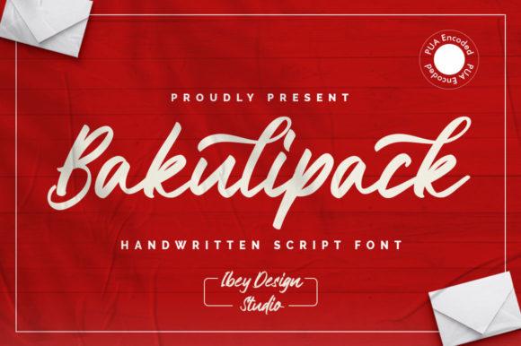 Bakulipack Script Font