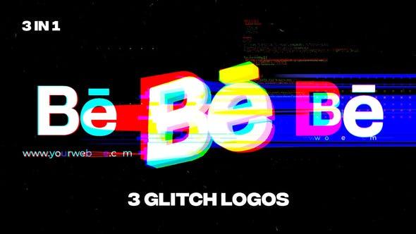 Videohive Glitch Logos 34096341
