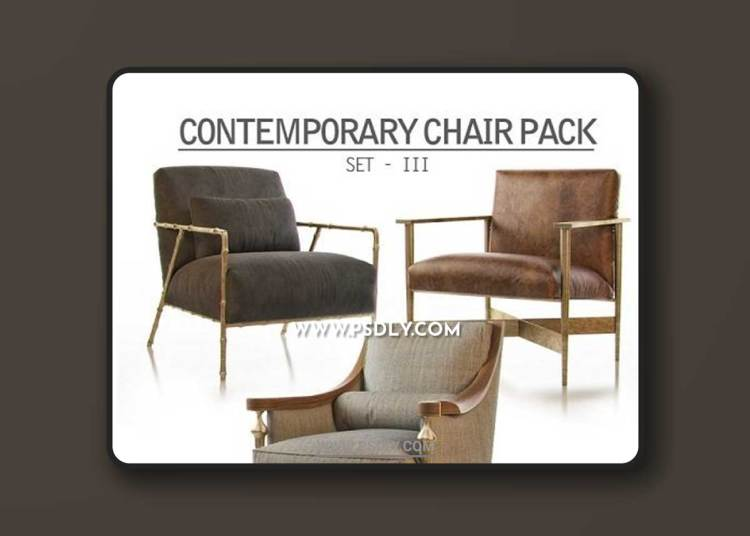 Contemporary Chair Pack Set III 3D Models