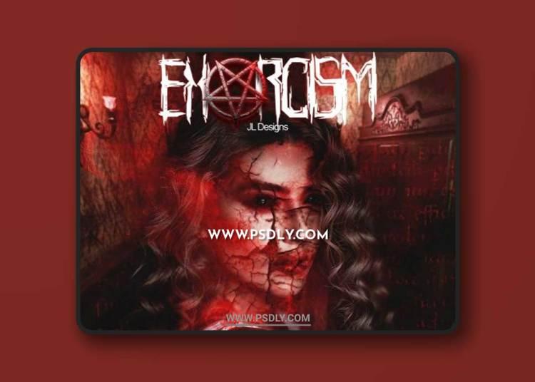 CreativeMarket - Exorcism Photoshop Action 5299028