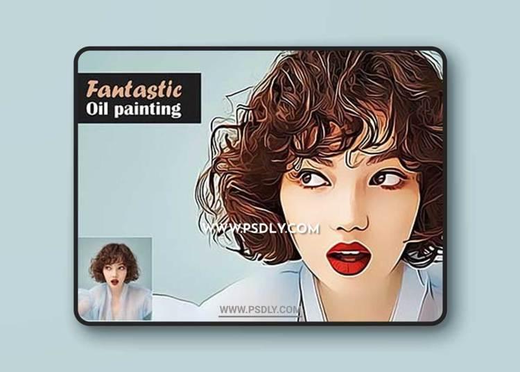 CreativeMarket - Fantastic Oil Painting 5567355